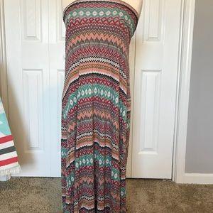 LARGE American Rag colorful maxi skirt
